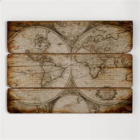 wooden world map wall wood wall map world market