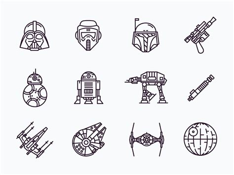 star wars icons by simonas mačiulis dribbble