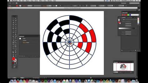 illustrator tutorial live paint illustrator cc 2014 polar grid tool and live paint
