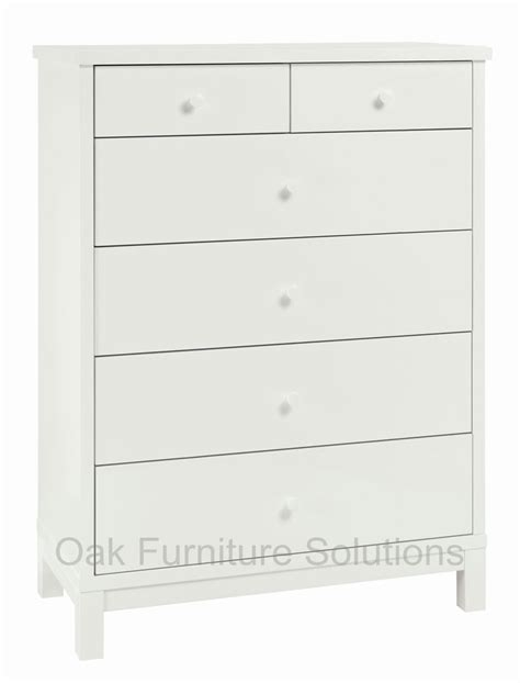 White Two Drawer Dresser Atlanta White 2 4 Drawer Chest Oak Furniture Solutions