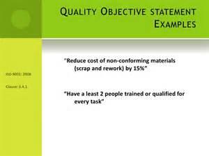 presentation on establishing quality objectives