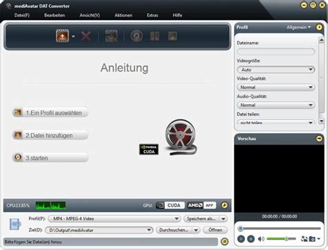 tutorial vcd dat datei in avi divx mp4 mpeg wmv - Wandlen Wit