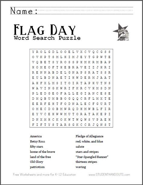 printable word searches for june flag day word search puzzle free to print grades 2 12