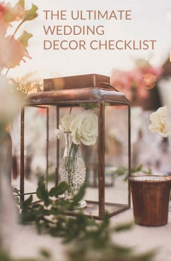 Wedding Checklist Decor by Wedding Decorations Checklist What You Will Need