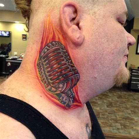 microphone tattoo on neck 385 best tattoos i have done images on pinterest bob