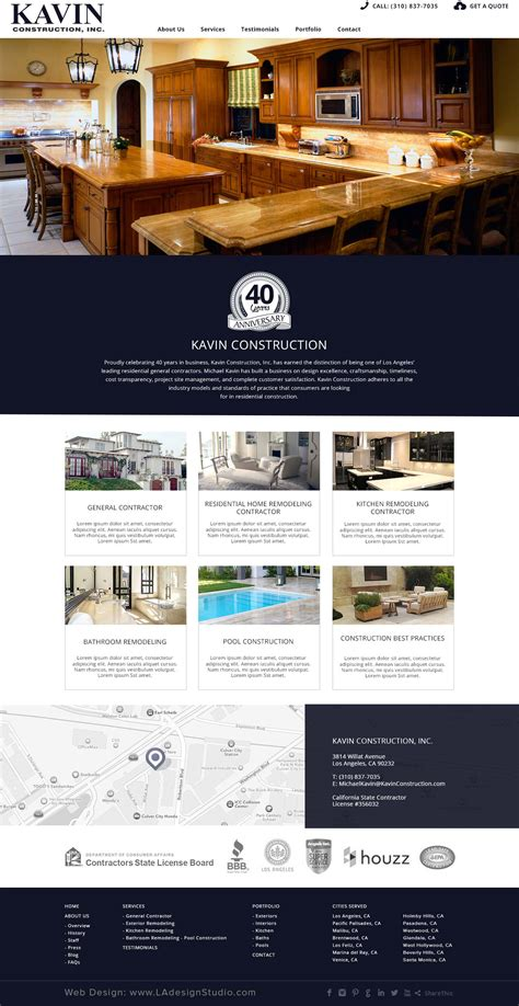 Home Construction Website Design by Kavin Construction Website Design Web Design Company