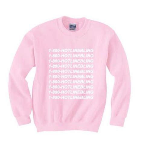 sweater hotline bling pink jumper sweatshirt