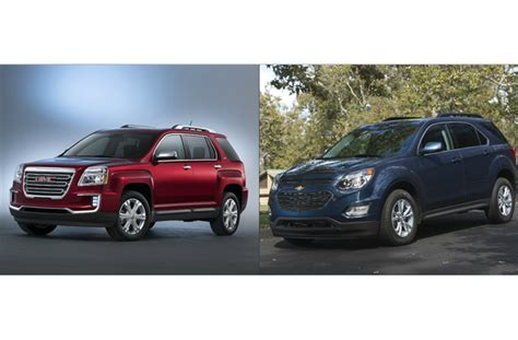 gmc acadia vs terrain gmc terrain vs chevy equinox u s news world report