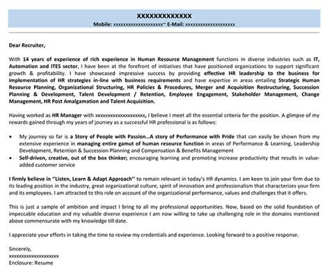 cover letters for hr cover letter for hr manager application writingz web