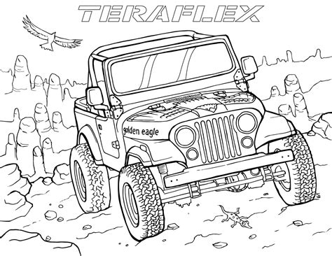 jeep coloring pages gallery teraflex jeep coloring pages teraflex