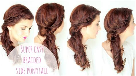 Side Hairstyle by Simple Side Braided Hairstyle