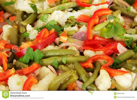 vegetables dinner big dish with vegetables for dinner royalty free stock