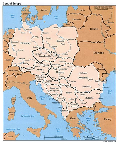 map of central europe maps of europe and european countries political maps