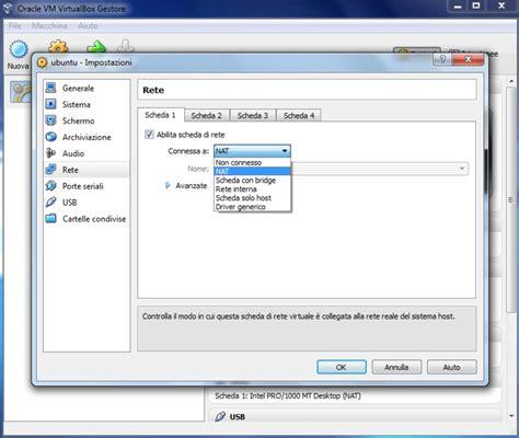 virtualbox rete interna uso di virtualbox in ms windows per installare ubuntu su