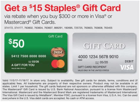 visa gift card fine print expired staples buy 300 in visa or mastercard gift