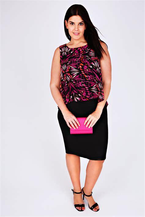 Jersey Multi black multi jersey midi dress with butterfly print