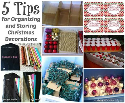 organizing and storing christmas decorations and a 300