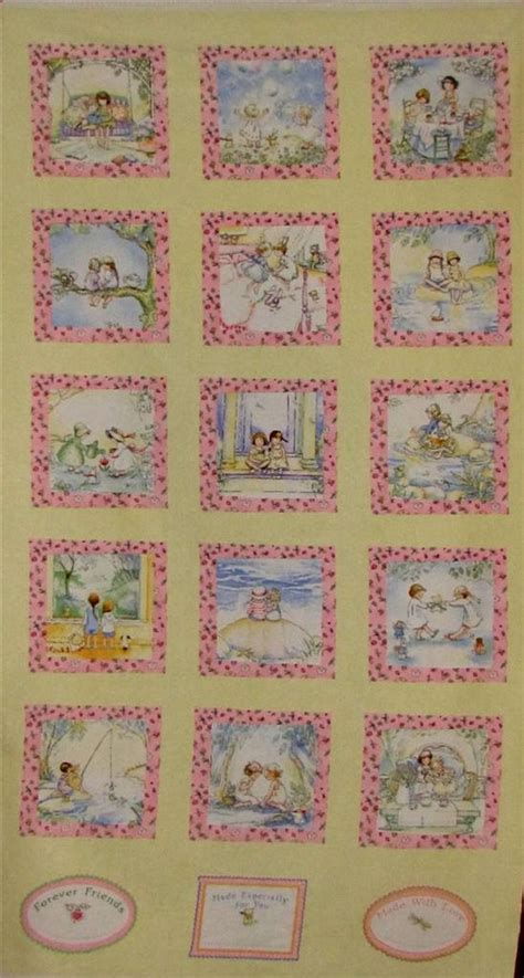 Best Fabric For Quilting by Friends Forever Best Friends Flannel Cotton Fabric Panel