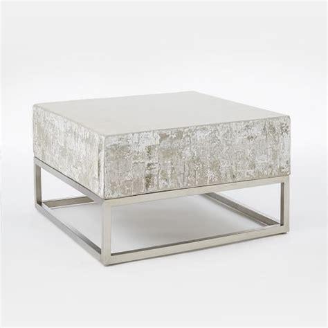 chrome coffee table concrete chrome coffee table west elm