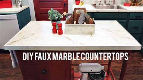 Artificial Kitchen Countertops by Diy Faux Marble Countertops Knock It The Live