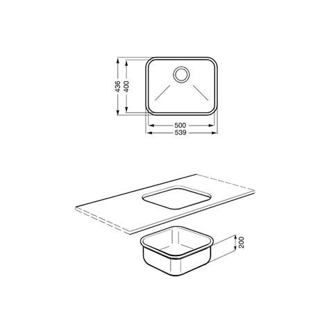 Evier Inox Encastrable Sous Plan by Smeg Um50 201 Vier Encastrable Sous Plan 1 Cuve Acier