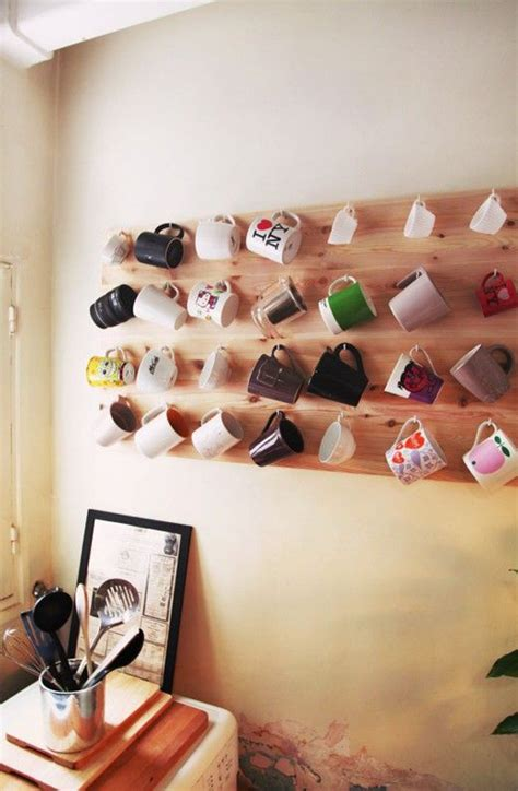 inspiring mug wall storage ideas house design and decor