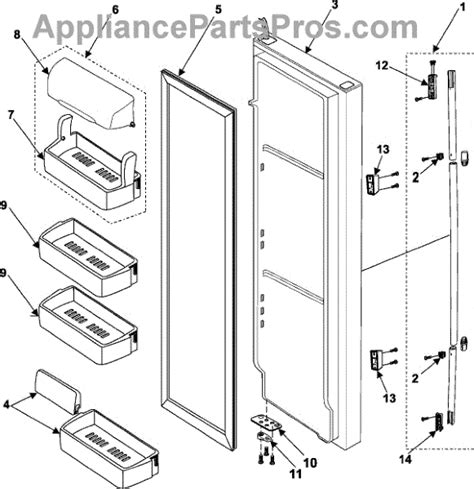 samsung refrigerator parts parts for samsung rs257barb refrigerator door parts appliancepartspros