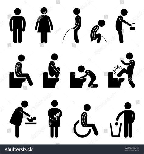 male female bathroom symbols toilet bathroom male female pregnant handicap stock illustration 78376966 shutterstock