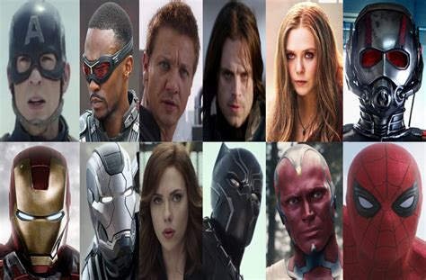 A4 Civil War Team A the teams of captain america civil war by doctorjohnpotters on deviantart