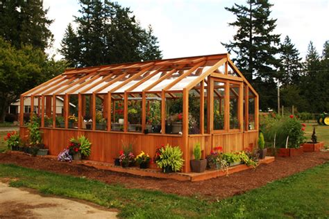 Wood Greenhouse Building