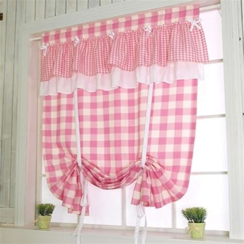 pink tie up curtains tie up balloon curtain