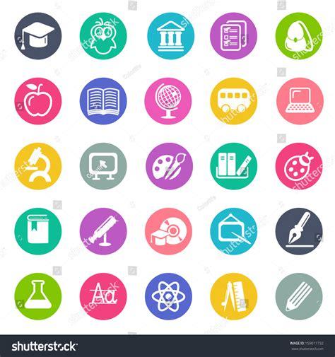design education icon education icon set flat design stock vector illustration
