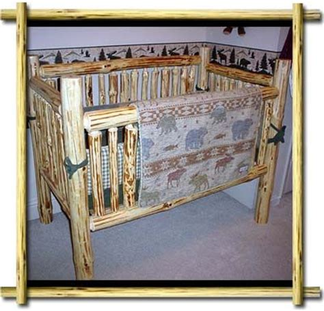 Rustic Baby Cribs And A Log Furniture Rustic Log Cabin Log Baby Cribs