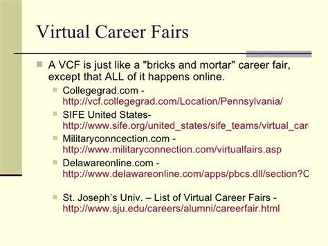 Http Www Mba Org Virtualcareerfair by Searching 101 Searching