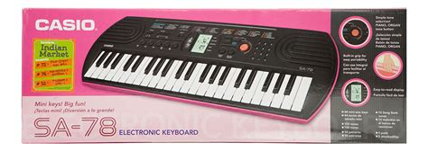 Keyboard Casio Sa 78 buy casio electronic keyboard sa 78 with charger in