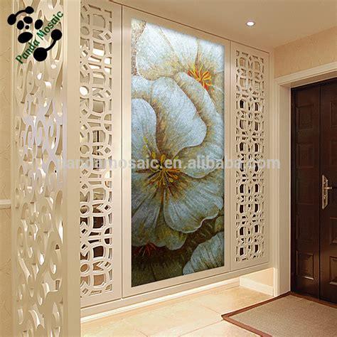 glass wall murals mb smm04 hallway wall decor handmade mosaic flower backsplash tile glass tile mosaic mural