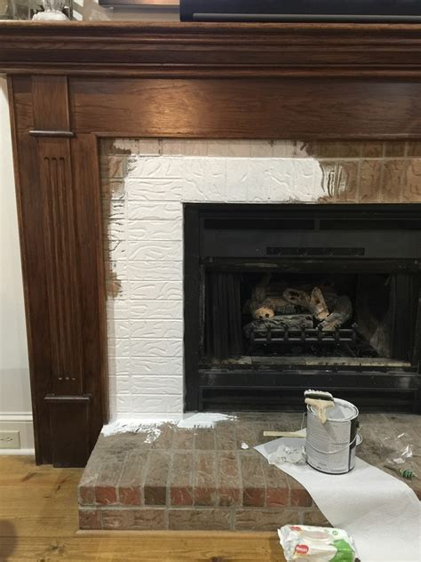 Painting Brick by Got Brick How To Paint Fireplace Mantel