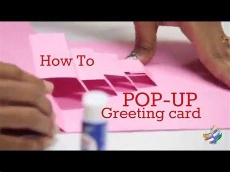 how to make a pop up greeting card how to make a city pop up card pop up cards doovi
