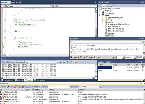 arduino code visual studio arduino debug tool debug over serial xbee bluetooth
