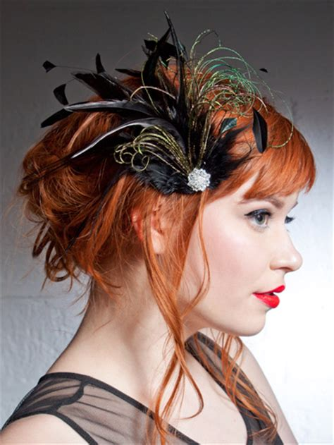 how to feather black hair belle epoch black and green feather hair clip