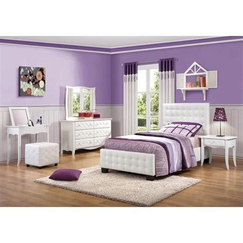 trent home sparkle tufted upholstered bed in white 2004 x1