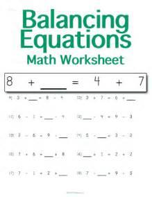 balancing math equations worksheet customizable