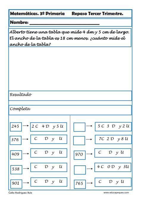 matemticas 3 primaria 8468012866 fichas de matem 225 ticas tercero primaria
