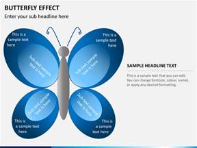 butterfly effect diagram powerpoint sketchbubble