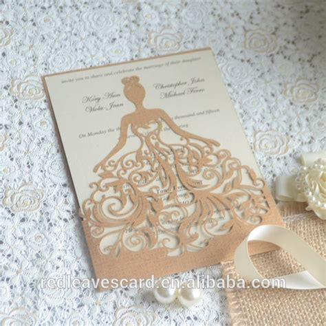wedding invitation design and printing china supplier modern design 3d printing wedding