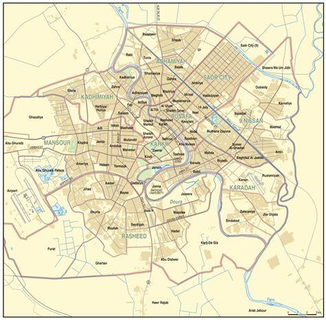 baghdad map civilian deaths in the iraq usa war