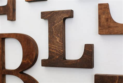 Decorative Wood Letters by L Alphabet Wooden Letters 6 7 Inch Vintage Decorative Letter