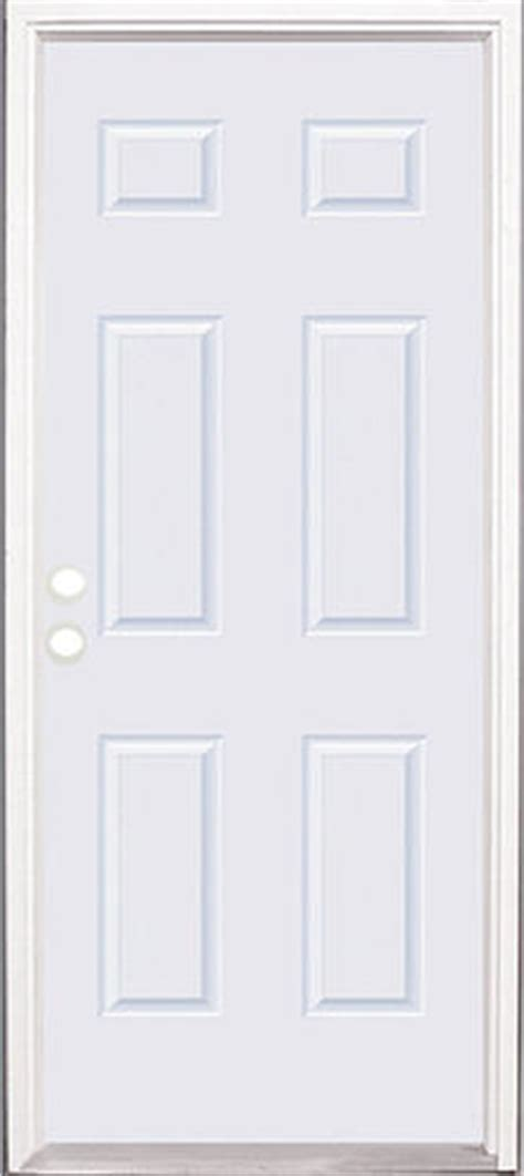 Menards Mastercraft Exterior Doors Mastercraft E 1 Smooth Fiberglass 6 Panel Prehung Ext Door At Menards 174