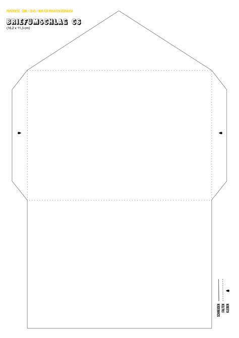 vorlage briefumschlag ausdrucken paper desc diy briefumschlag c6 zum ausdrucken auf a4 papier