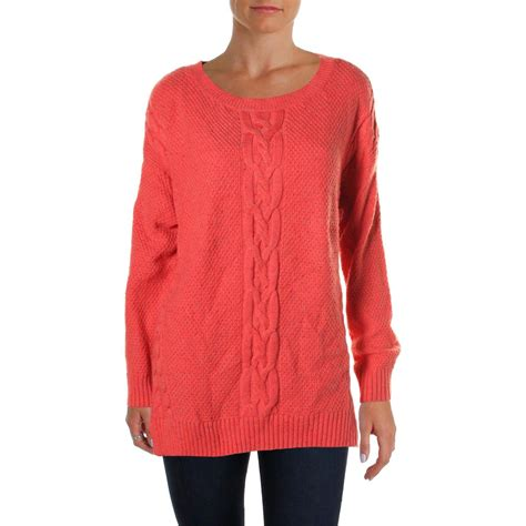 cable knit sweater womens hilfiger 2642 womens cable knit crew neck pullover